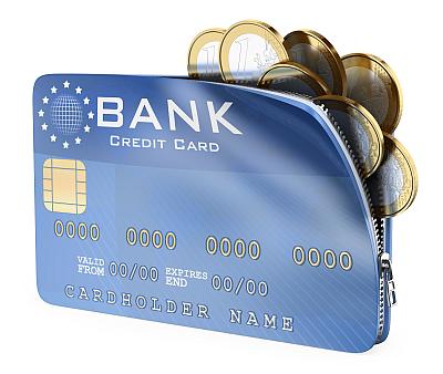 kreditkort symboliseras av en plånbok
