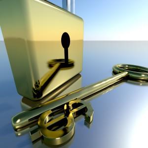 Guldnyckel som symboliserar sparkonto
